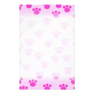Impresiones animales de la pata Rosa rosa claro y Tarjetas Publicitarias