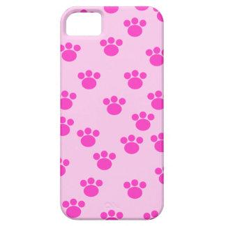Impresiones animales de la pata. Rosa rosa claro y Funda Para iPhone SE/5/5s