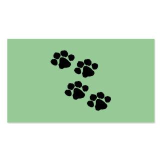 Impresiones animales de la pata tarjeta de visita