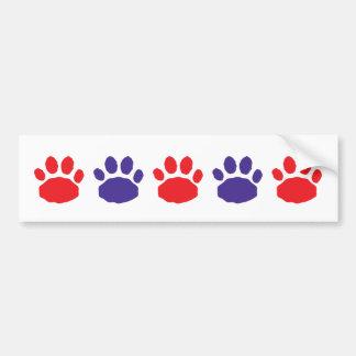 Impresiones animales rojas y azules de la pata pegatina para auto