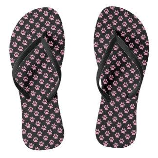 Impresiones animales rosadas de la pata del clavel