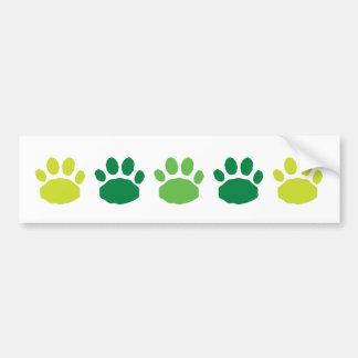 Impresiones animales verdes de la pata pegatina para auto