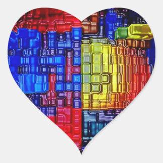Impresiones azules de las camisetas de los posters pegatinas de corazon personalizadas
