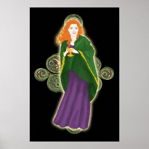 Impresiones célticas virginales del arte del Grail