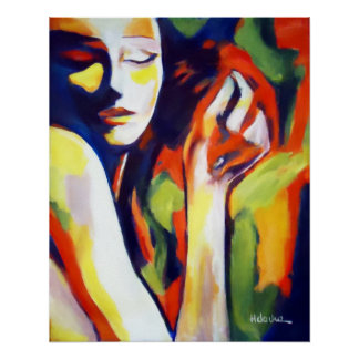 Impresiones coloridas de la bella arte - retrato h