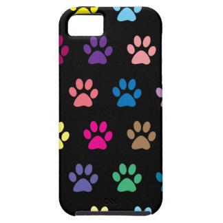 Impresiones coloridas de la pata del perrito en iPhone 5 carcasa