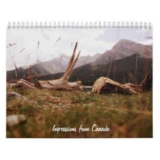 impresiones de Canadá Calendario De Pared
