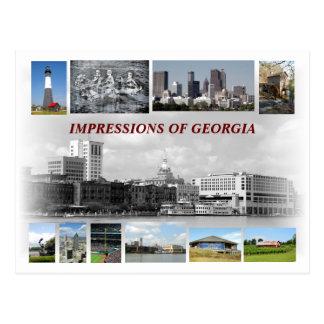 Impresiones de Georgia, los E.E.U.U. Tarjeta Postal