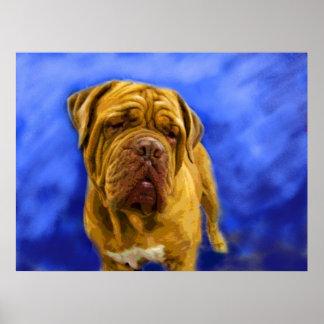 Impresiones de la bella arte de Dogue de Bordeaux