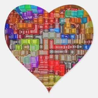 Impresiones de la camiseta de la oficina del poste pegatina corazón