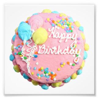 Impresiones de la foto de la torta del feliz cumpl fotografía