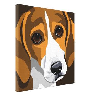 Impresiones de la lona de arte del beagle impresión en lona