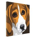 Impresiones de la lona de arte del beagle lienzo envuelto para galerias