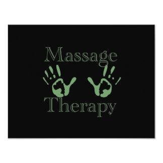 Impresiones de la mano de la terapia del masaje invitación 10,8 x 13,9 cm