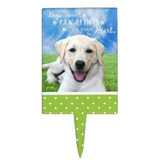 Impresiones de la pata de la licencia de los perro decoraciones de tartas