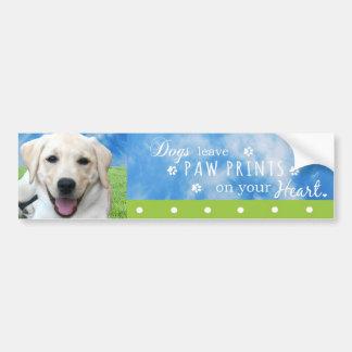 Impresiones de la pata de la licencia de los perro pegatina de parachoque