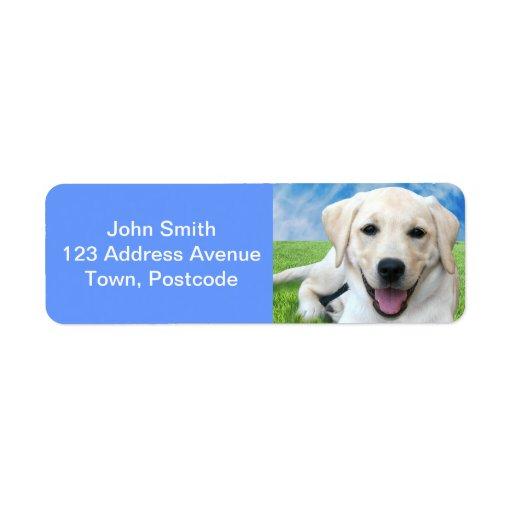 Impresiones de la pata de la licencia de los perro etiquetas de remite