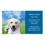 Impresiones de la pata de la licencia de los perro plantillas de tarjeta de negocio