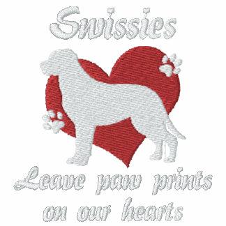 Impresiones de la pata de la licencia de Swissies