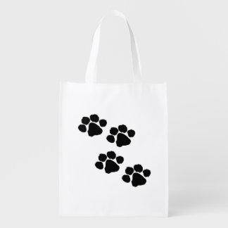 Impresiones de la pata de los mascotas bolsa de la compra