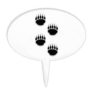 Impresiones de la pata de oso negro decoración de tarta