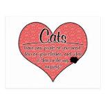Impresiones de la pata del gato en su humor del co tarjetas postales