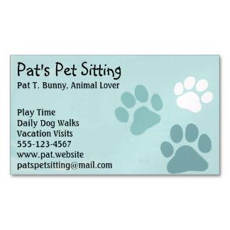 Impresiones de la pata del mascota en trullo tarjetas de visita magnéticas (paquete de 25)