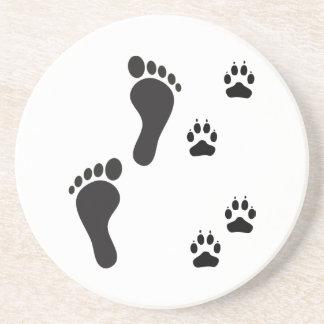 Impresiones de la pata del perro con la impresión  posavasos manualidades