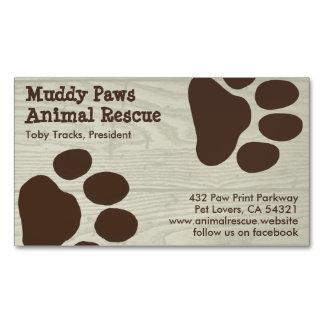 Impresiones de la pata del perro - servicios del tarjetas de visita magnéticas (paquete de 25)