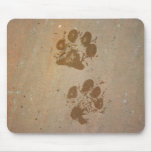 Impresiones de la pata en el cojín de ratón de pie tapetes de ratones