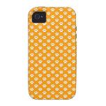 Impresiones de la pata en el naranja iPhone 4/4S carcasa