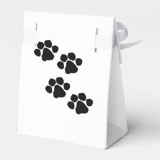 Impresiones de la pata para los amantes animales caja para regalos