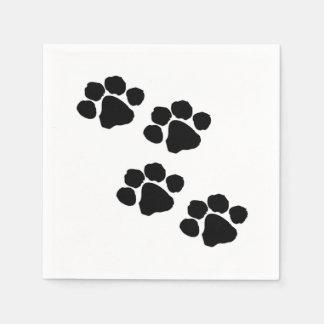 Impresiones de la pata para los amantes animales servilleta de papel