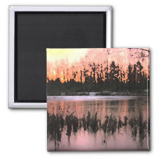 Impresiones de la puesta del sol iman para frigorífico
