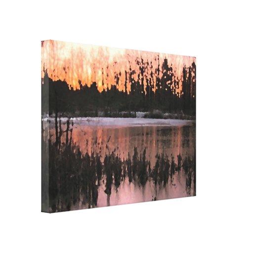 Impresiones de la puesta del sol lienzo envuelto para galerías