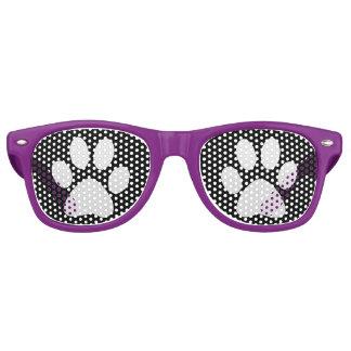 Impresiones de las patas del perrito lentes de fiesta