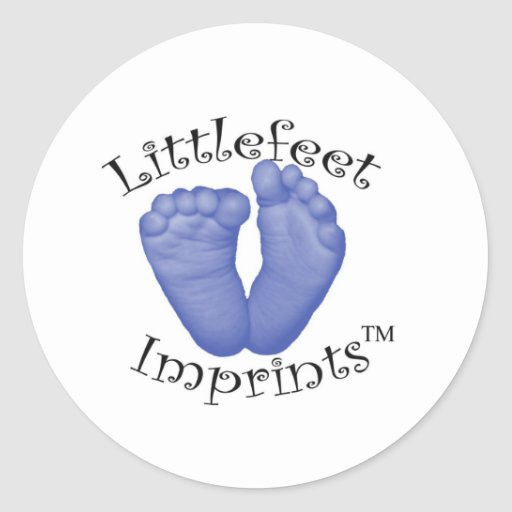 Impresiones de Littlefeet Etiqueta Redonda