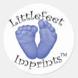 Impresiones de Littlefeet Pegatinas Redondas