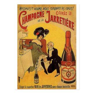 Impresiones de los anuncios del alcohol del vintag postales