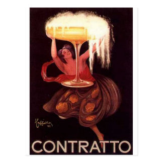 Impresiones de los anuncios del alcohol del vintag tarjeta postal