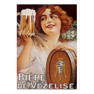 Impresiones de los anuncios del alcohol del vintag tarjetas postales