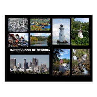 Impresiones de postal de Georgia