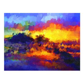 Impresiones de puesta del sol tarjetas postales