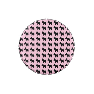 Impresiones de Terrier con el fondo rosado Jarrones De Dulces