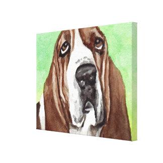 Impresiones del arte de la lona de Basset Hound Impresión En Lienzo Estirada