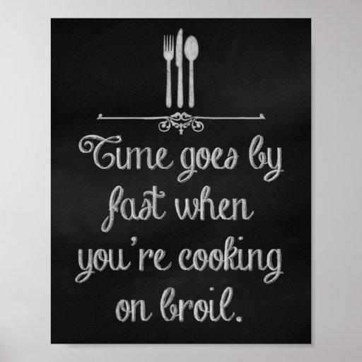 Impresiones del arte de la tiza de la cocina, piza