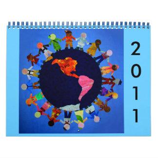 Impresiones del calendario y del arte de Montessor