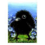 Impresiones del cuervo ACEO del bebé Plantilla De Tarjeta Personal