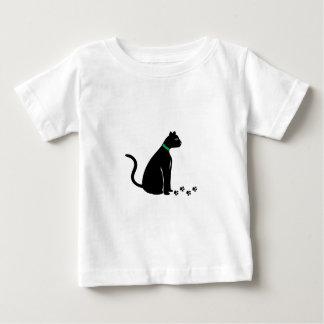 Impresiones del gato negro playeras