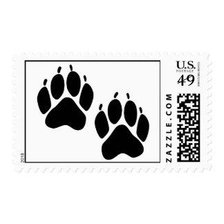 Impresiones del oso sellos postales